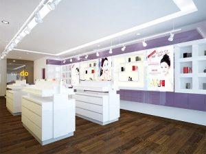 Thiết kế Shop Mỹ Phẩm Skindo Kiểu dáng sang trọng