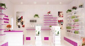 Thiết kế Shop Mỹ Phẩm Dazzling Nhỏ Xinh Cực Đẹp