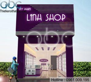 Thiết kế cửa hàng mỹ phẩm lina shop