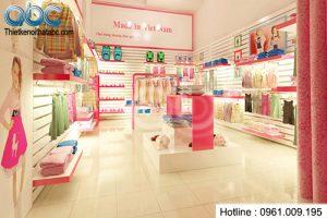 Thiết kế kiot bán hàng quần áo trẻ em đẹp hút khách