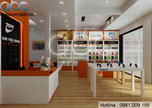 Thiết kế Showroom Thế giới Viễn Thông tại Bắc Giang