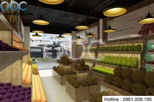 Thiết kế cửa hàng hoa quả trái cây tại Vĩnh Phúc