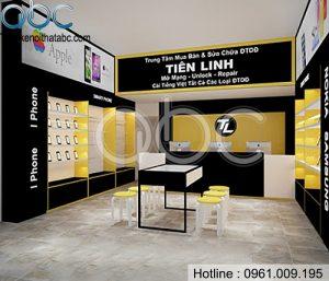 Thiết kế cửa hàng điện thoại nhỏ đẹp tại Hải Dương