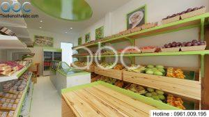 Thiết kế shop hoa quả, thực phẩm sạch Hòa Bình