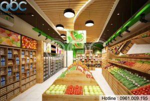 Thiết kế thi công Shop Hoa Quả Sạch tại Hòa Bình