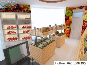Thiết kế nội thất cửa hàng hoa quả sạch tại Phú Thọ