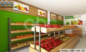Thiết kế cửa hàng thực phẩm sạch nhỏ đẹp tại Gia Lâm
