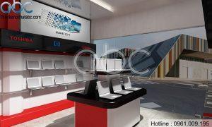 Thiết kế showroom máy tính đẹp hiện đại và nổi bật