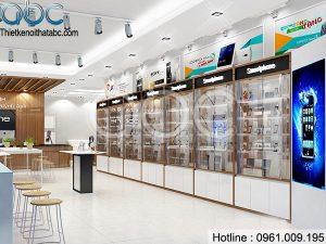 Thiết kế Shop Điện Thoại Mobifone Anh Vượng Sơn La