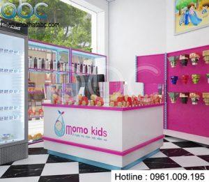 Thiết kế shop mẹ và bé Momo Kids siêu đẹp