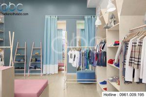 Thiết kế nội thất cửa hàng thời trang trẻ em Bebe Kids