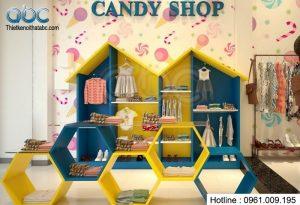 Thiết kế shop bán đồ trẻ em Candy Shop
