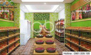 Thiết kế cửa hàng hoa quả sạch tại Cầu Giấy – Hà Nội