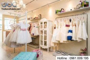 Thiết kế shop thời trang trẻ em Bé Yêu cực chất