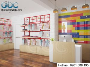 Thiết kế Shop thời trang trẻ em Thiên Thần Nhỏ
