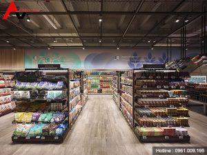 Thiết kế nội thất siêu thị tiện ích tại Quảng Ninh