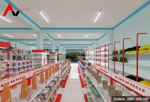 Thiết kế và thi công siêu thị mini tại Bắc Giang
