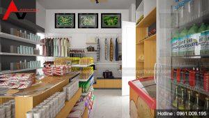 Thiết kế siêu thị mini đẹp tại Lĩnh Nam, Hà Nội