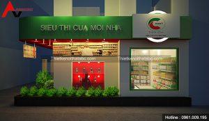 Thiết kế nội thất siêu thị tiện ích Cmart tại Long Biên, Hà Nội