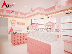 Thiết kế cửa hàng mỹ phẩm nhỏ xinh HÚT KHÁCH 30m2 ở Hà Nội