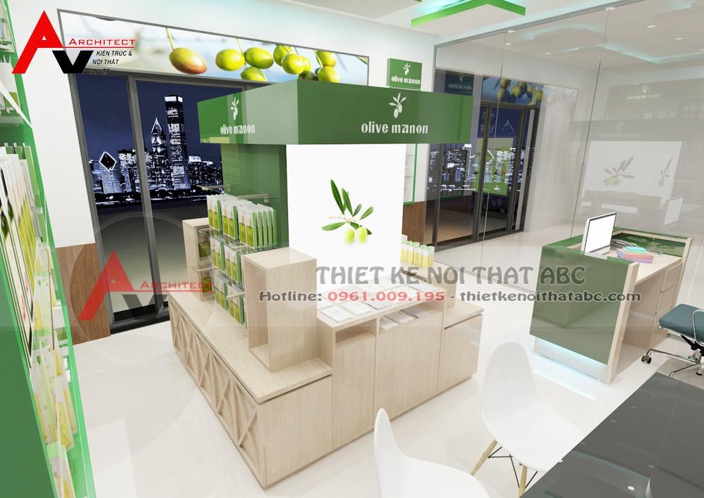 Thiết kế shop mỹ phẩm nhỏ đẹp 20m2 tại Hà Nội