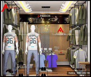 Thiết kế shop thời trang nam ở Trạm Trôi, Hoài Đức, Hà Nội