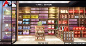 Thiết kế siêu thị mini kiểu Nhật tại Tp. Vĩnh Yên, Vĩnh Phúc