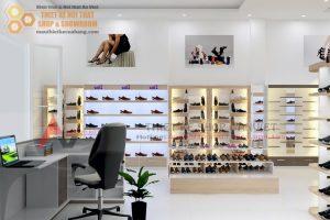 Thiết kế cửa hàng giày dép thể thao diện tích nhỏ đẹp