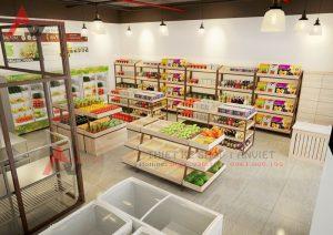 Thiết kế cửa hàng thực phẩm sạch Bác Tôm tại Hà Nội