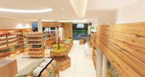 Thiết kế cửa hàng thực phẩm sạch đẹp sang trọng 50m2