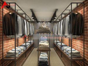 Thiết kế nội thất cửa hàng thời trang nam đẹp tại Thanh Hóa