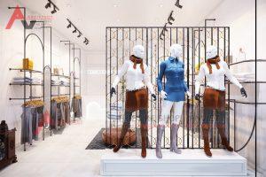 Thiết kế shop thời trang nữ đẹp hiện đại 30m2 tại Hà Nội