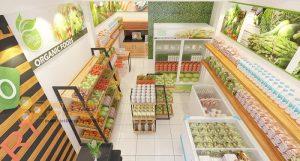 Thiết kế shop thực phẩm sạch 40m2 đẹp nổi bật tại Hà Nội