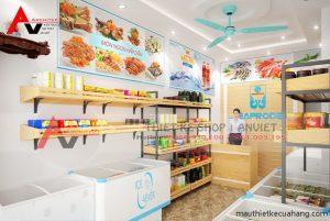 Thiết kế shop thực phẩm sạch nhỏ 20m2 tại Thanh Xuân Hà Nội