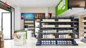 Thiết kế siêu thị mini Prolife Mart 60m2 tại Hà Nội