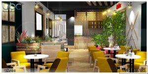 Thiết kế nội thất quán cafe gốm sứ Bát Tràng Anh Toàn