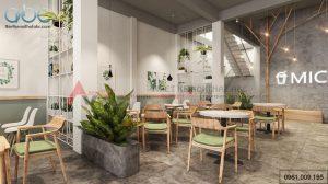 Thiết kế nội thất quán trà sữa độc đáo tại Hà Nội