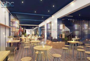 Thiết kế nội thất quán trà sữa Hey Tea Xã Đàn hiện đại