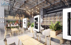 Nội thất quán trà sữa Heytea Anh Dũng tại Hà Nội