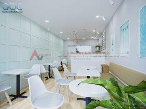 Nội thất quán trà sữa Queen Tea Hà Nội hiện đại