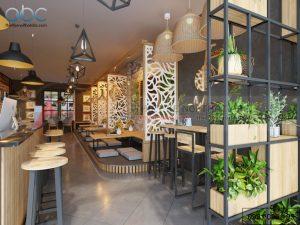 Thiết kế nội thất quán trà sữa 80m2 Nam Định