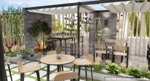 Thiết kế nội thất cafe sân vườn tại Phú Thọ