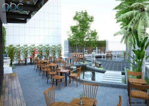 Thiết kế quán cafe sân vườn tại Hải Phòng
