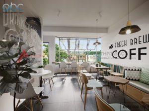 Thiết kế nội thất quán cafe 300m2 sang trọng tại Hà Nội
