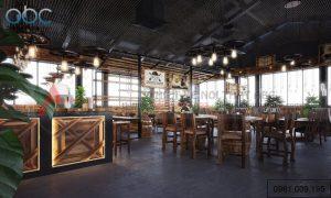 Thiết kế nội thất quán cafe mang phong cách cowboy