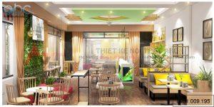 Thiết kế nội thất quán trà sữa 70m2-Hải Phòng