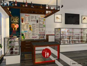 Thiết kế nội thất quán trà sữa bánh ngọt tại Hà Nội