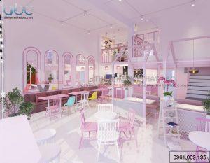 Thiết kế nội thất quán trà sữa Min Bắc Ninh