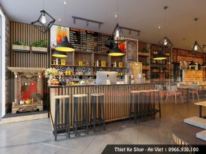 Mẫu thiết kế quán Cafe hiện đại sang trọng tại Hà Nội