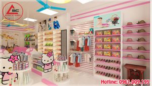 Thiết kế cửa hàng bán đồ sơ sinh tại Hưng Yên
